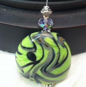 Jen Hopkin's lampwork bead